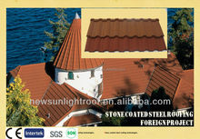SONCAP Certificate stone coated steel roofing/aluminium alloy roof/ stone roofing