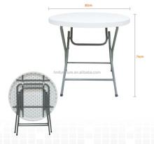 80cm plastic round folding table wholesale