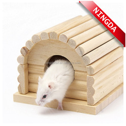lovely wooden hamster house