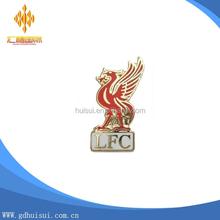 custom metal plating gold LFC football club hard enamel pin