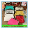 Frame bag mini polyester purse metallic pvc purse glitter pu chain purse small wallet cheap good promotion