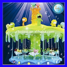 Amusement park attractions horse riding machine Carousel Honey Tree games for kids
