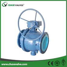 API 6D standard worm gear operation 12 inch trunnion mounted cast steel ball valve with stainless ball