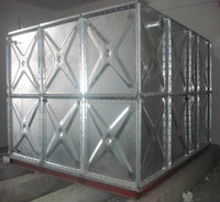 China supply high quality galvanized water pressure tank,hot-dipped galvanized pressed steel water tank