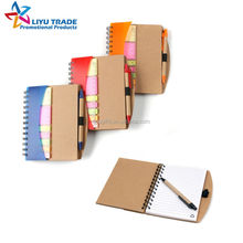 promotion gift recycle spiral piano notebook with pen