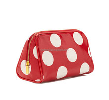Perfectly Pretty Polka Dots Canvas Cosmetic Case