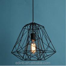 Modern Hive Iron Diamond Cage Lustre Pendant Light Rustic Lamp Luminaire Lustre Pendant Lamp
