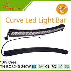 "50"" 240W curved led light bar 3D reflector led light bar"