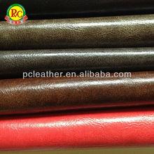 impreso tejido de tela de cuero de la pu de cuero para muebles sofá de tapicería
