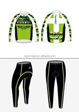 Custom Team bicycle cycling jerseys long sleeve with cool fabric