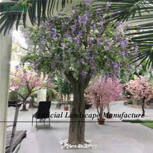 SJWT05 Guangzhou wholesale artificial wisteria tree for decoration , artificial wedding blossom flower tree