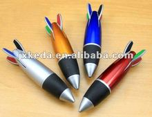 2013 Small Size Promotional gift cute outlook plastic 4 color rocket pen