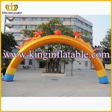 China Factory Offer Cheap Price Inflatable Event Arch, Promotional Golden Inflatable Arch