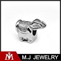 Stainless Steel Elephant Bead Charm for Bracelet