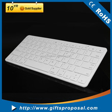 White Color Portable Slim Keyboard for iPad Mobile Phone Charging Keyboard