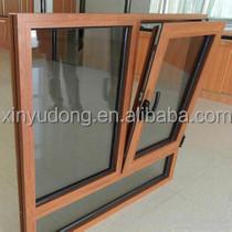 aluminium profile wood finish windows tilt and turn open side hung window
