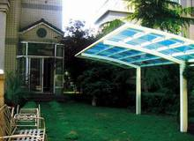modern aluminium carport polycarbonate shade with polycarbonate roof panels, available in 5 colors