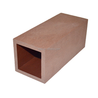 100*100mm good price wood plastic composite upright post of pergola extruded wood plastic composite upright post of handrail