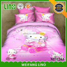 wholesale twin flat sheets/100 cotton kids bedding set/100% cotton comforter