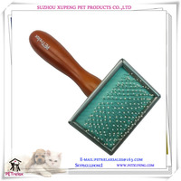 (S) PR80024 wholesale and retail fashionable good quality pet brush with soft rubber pad