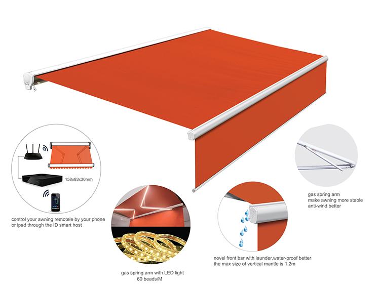 Elektrische Kunststoff Terrasse Abdeckungen Fertig
