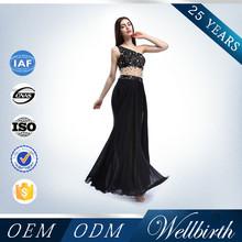 Open Leg Side Asymmetric Design Beaded Black Elegant Evening Dress Porn