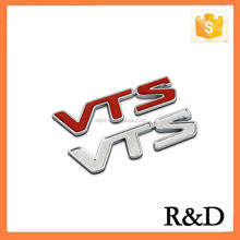 3D ABS Chrome Plating Badge Logo VTS Emblem Emblema Embleme Car Sticker Decal Nameplate For C5 C2 C4