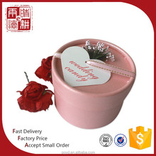 Personalized Colors Round Wedding Favors Box