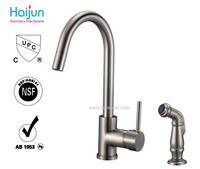 Single hole sanitary ware brass pull out kitchen mixer american faucet