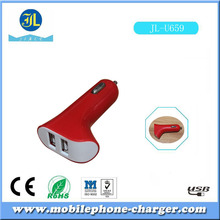special manufacturing dual portable usb car charger for mobile phone china cellular accessories