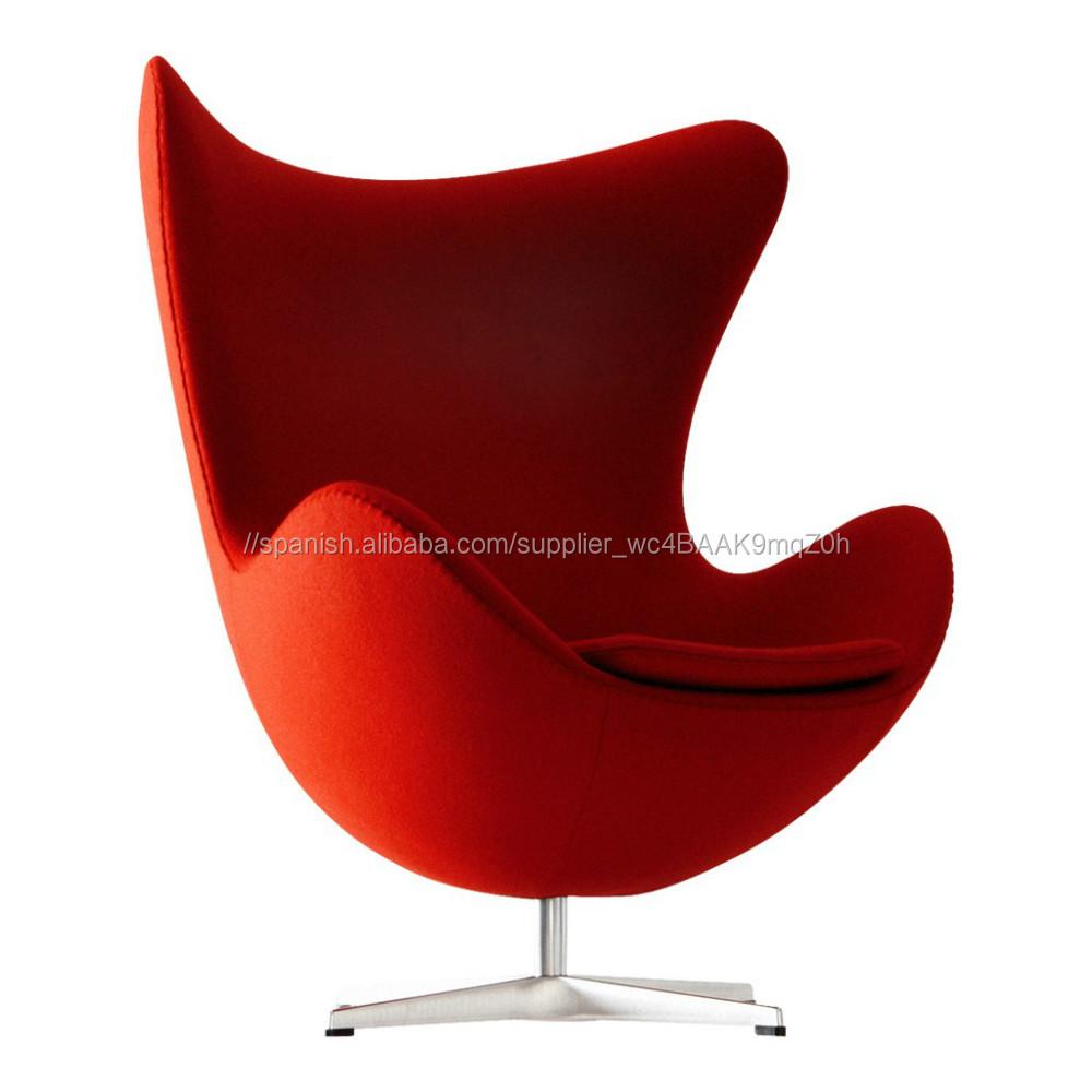 Replica fiberglass shell egg chair high back wing chair Danish design lounge chair