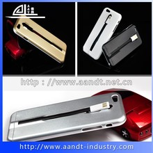 Wholesale hard plastic PC phone cases for iphone 6 case with usb charging cable