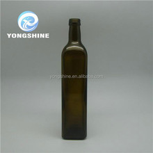 750ml glass bottle of red wine in square shape /round shape