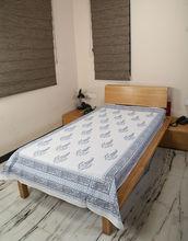 Sábana de hecho en la india, bloque de la mano de impresión sábana, sábana de algodón tela