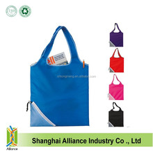 Wholesale Foldable Shopping Grocery Bag Lightweight Nylon Tote Carry Shouder Supermarket