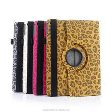 Fashion Leopard Grain Book Leather 360 Degree Rotating Case Flip Stand Cover for ipad air 2 MT-2578