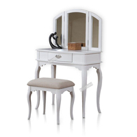 White Mirrored Dressing Table Design