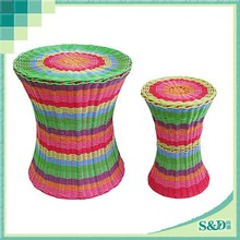 SD wicker PE rattan classical ethnic style bar table and stool