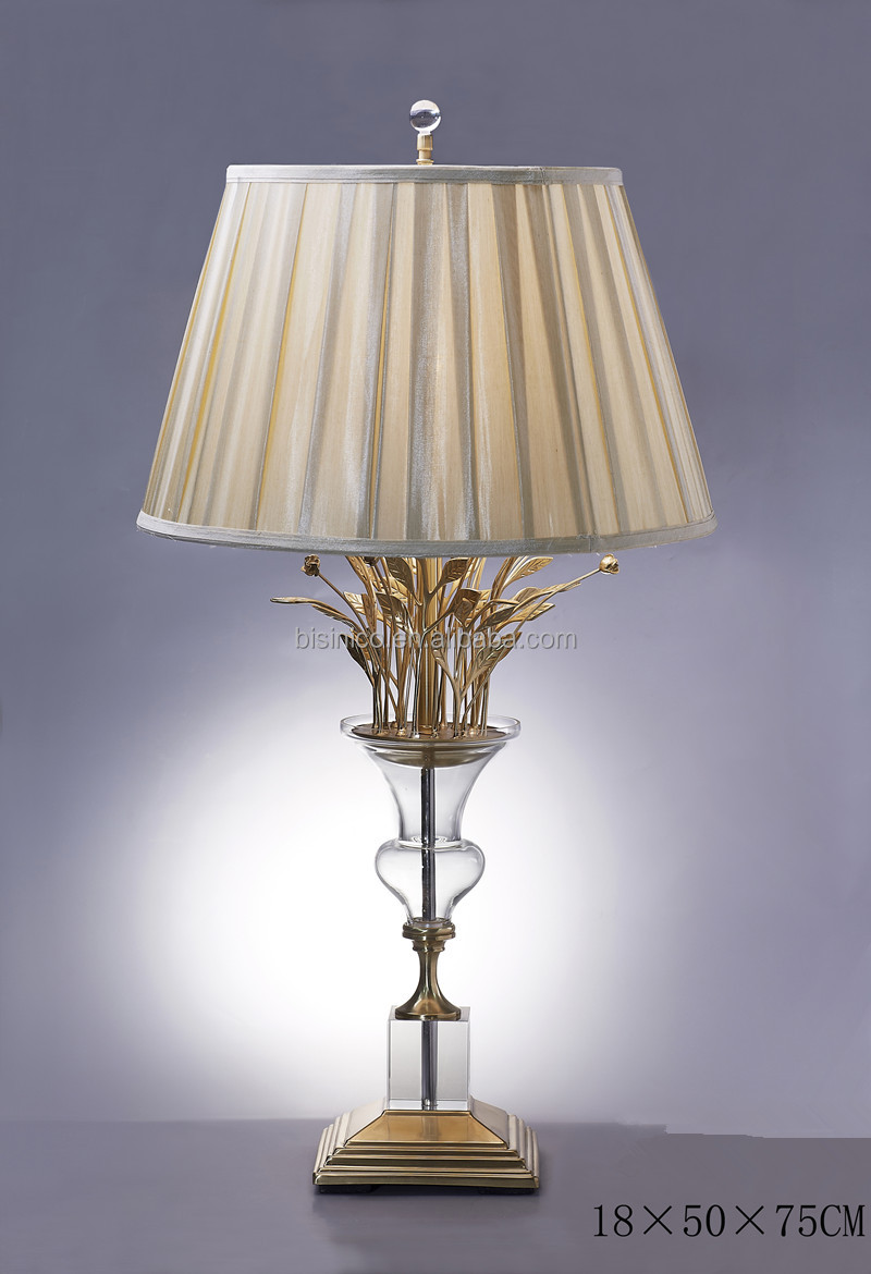 Fancy table lamp with shadeimitate flower vase shape crystal bronze fh06 1093g mozeypictures Image collections