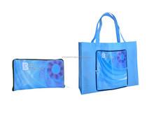 Folded non woven shopping bag