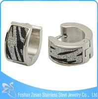 ZS19016 leopard sandpaper hoop earrings , fashion korea earring wholesale