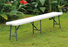 Easy-Carrying Plastic Folding Garden Bench Outdoor