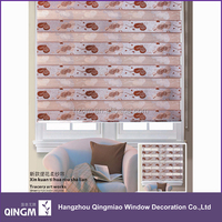Plain Roller Blind Fabric With Fashion Love Heart Design For Building Window