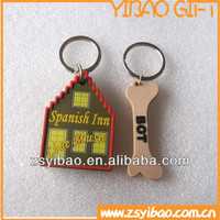 Soft PVC Keychain/Eco-friendly Rubber PVC Keyrings, Soft PV Key Holder for promotion