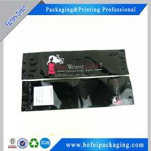 Ziplock plastic bags for hair extensions
