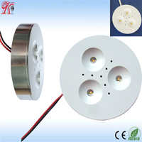 recessed and surface mounting 3w warm white slim puck cabinet led 3w 12v ,led cabinet mini spot light