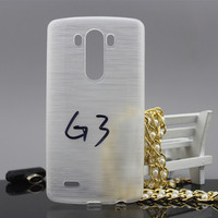 Hottest !!! brushed tpu back cover case for lg g3