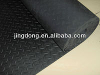 1.4*20m*4mm diamond tread rubber sheet/ rubber mat/Anti-slip Diamond Rubber Garage Floor Mat