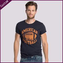 High quality 100%cotton o-neck men printed top brand t-shirts
