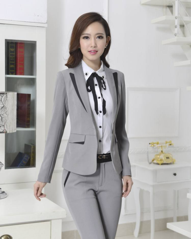 Grey suit jacket with different color pants